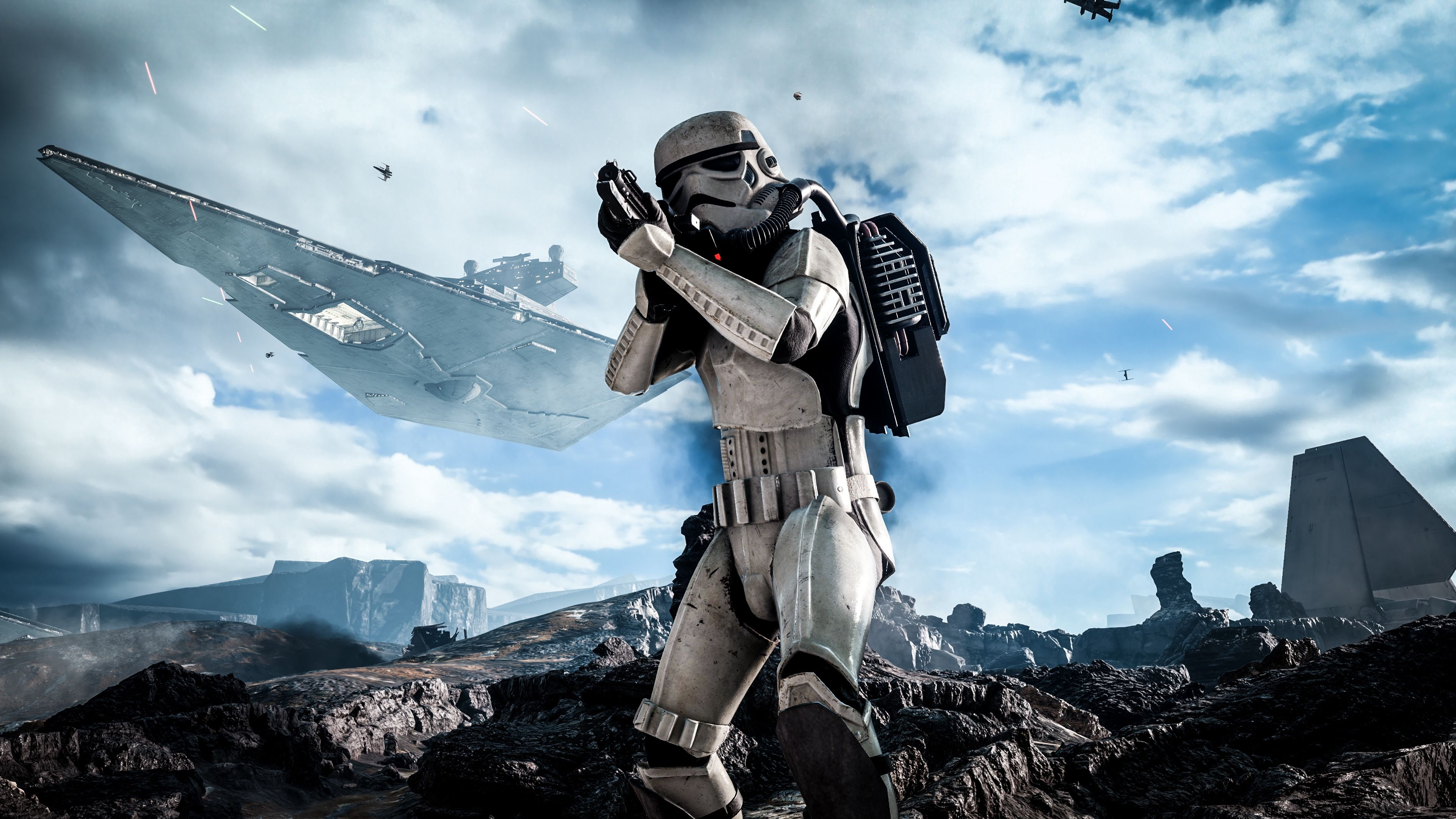 Download Wallpapers Star Wars Battlefront Electronic Star Wars Pc Background 3840x2160 Wallpaper Teahub Io