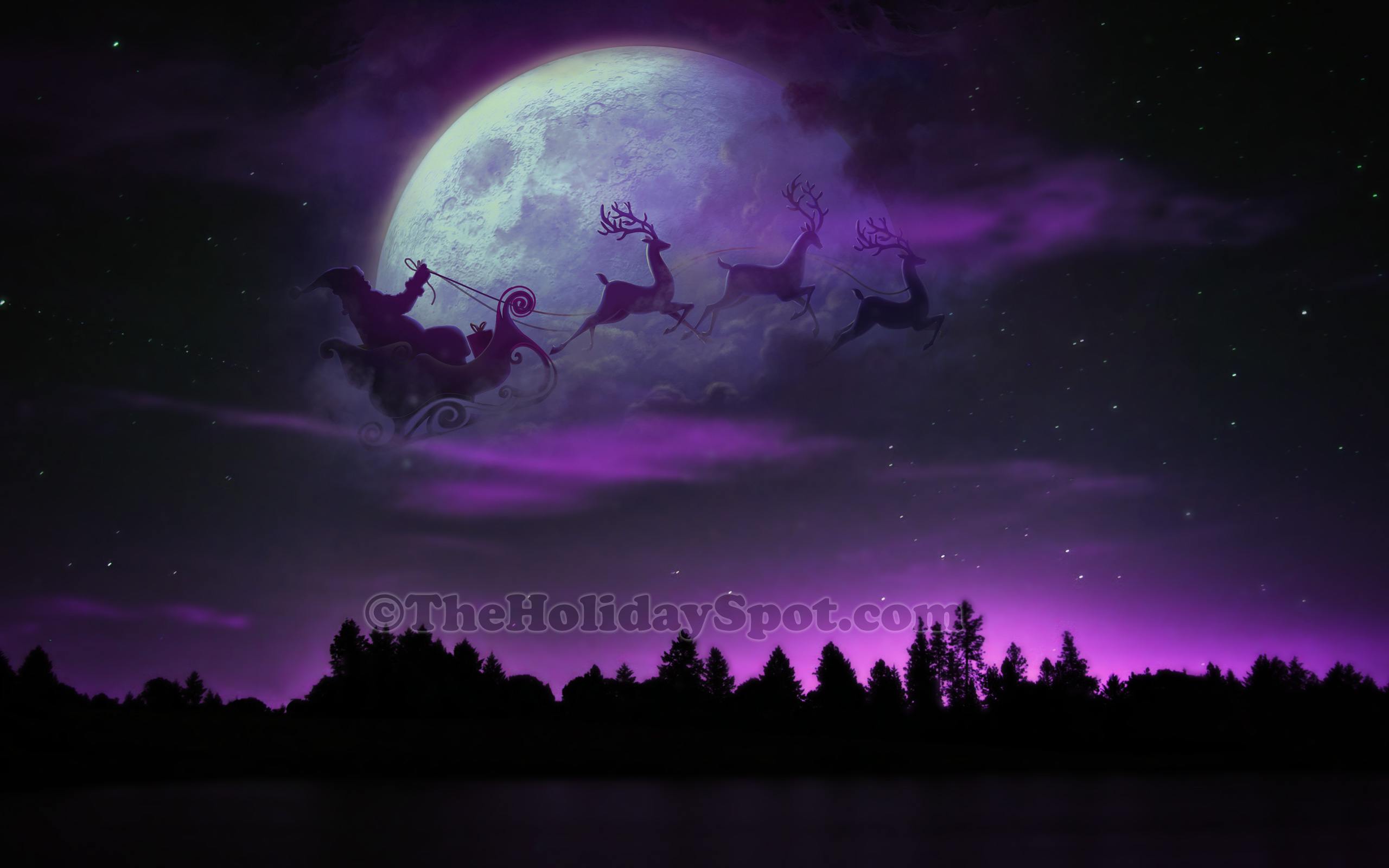 0 2214 christmas purple desktop wallpaper hd
