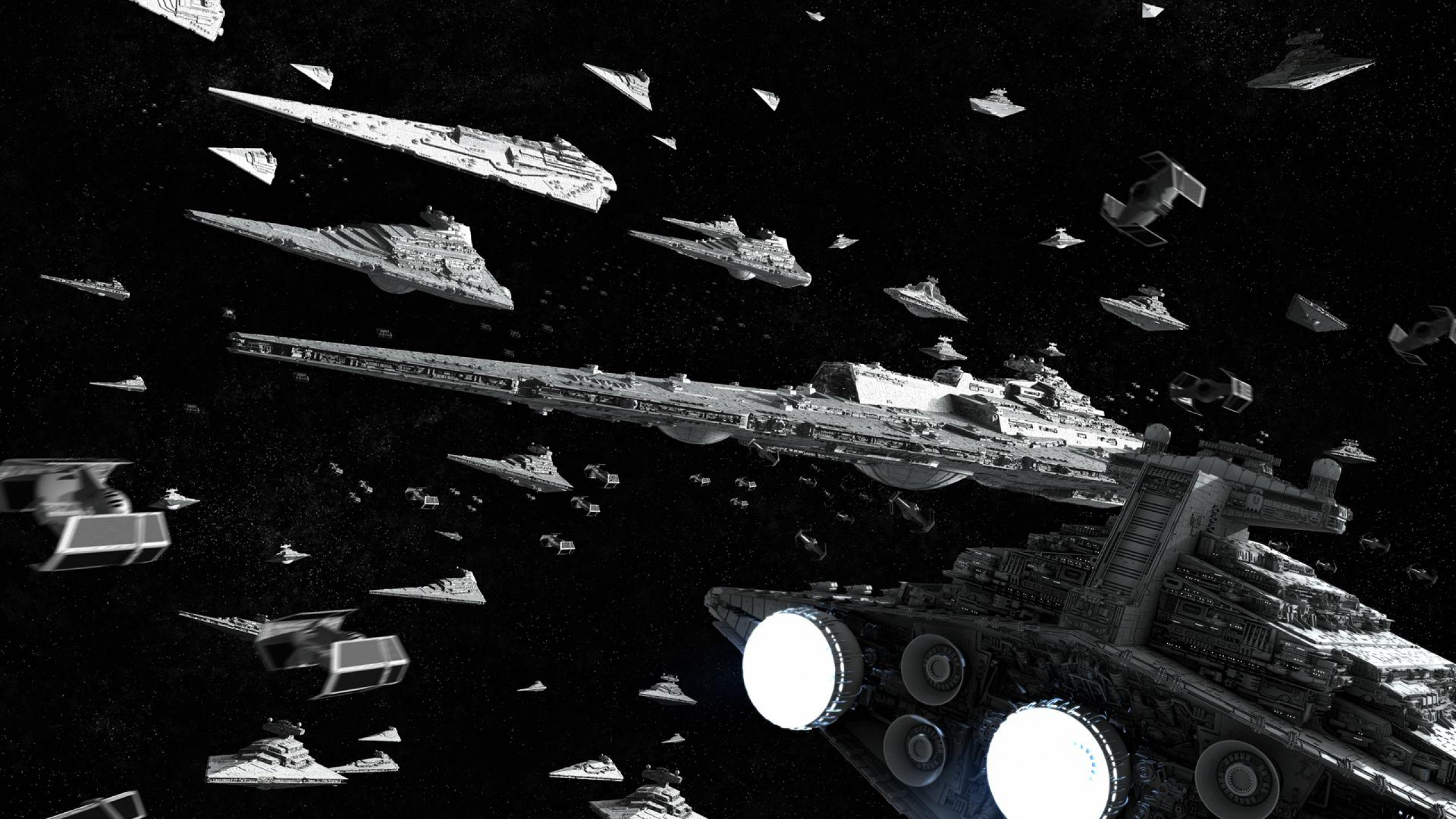 Star Wars Star Destroyer Wallpaper 2 Star Wars Spaceship Fleet 2560x1440 Wallpaper Teahub Io