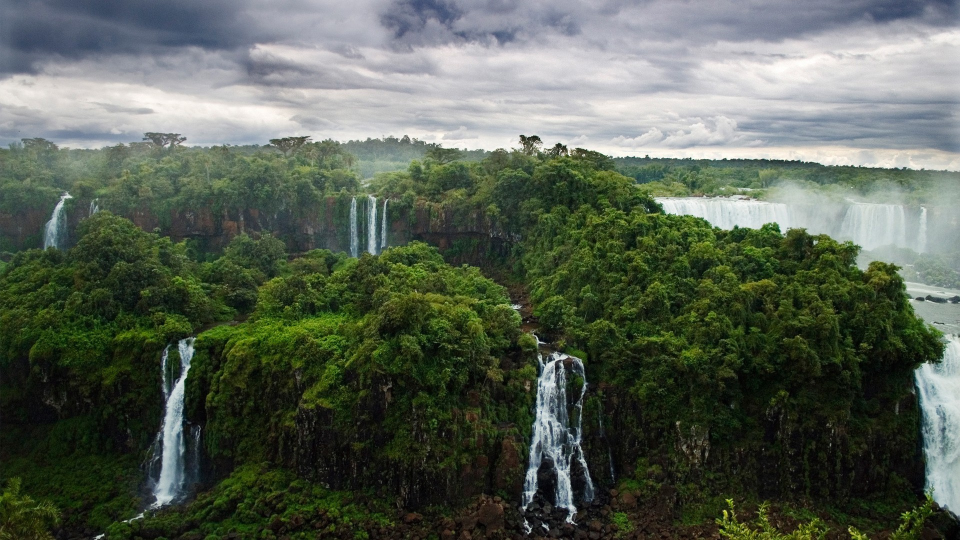 Free 1080p Nature Wallpaper Hd Wallpapers Background - Iguazu Falls - HD Wallpaper