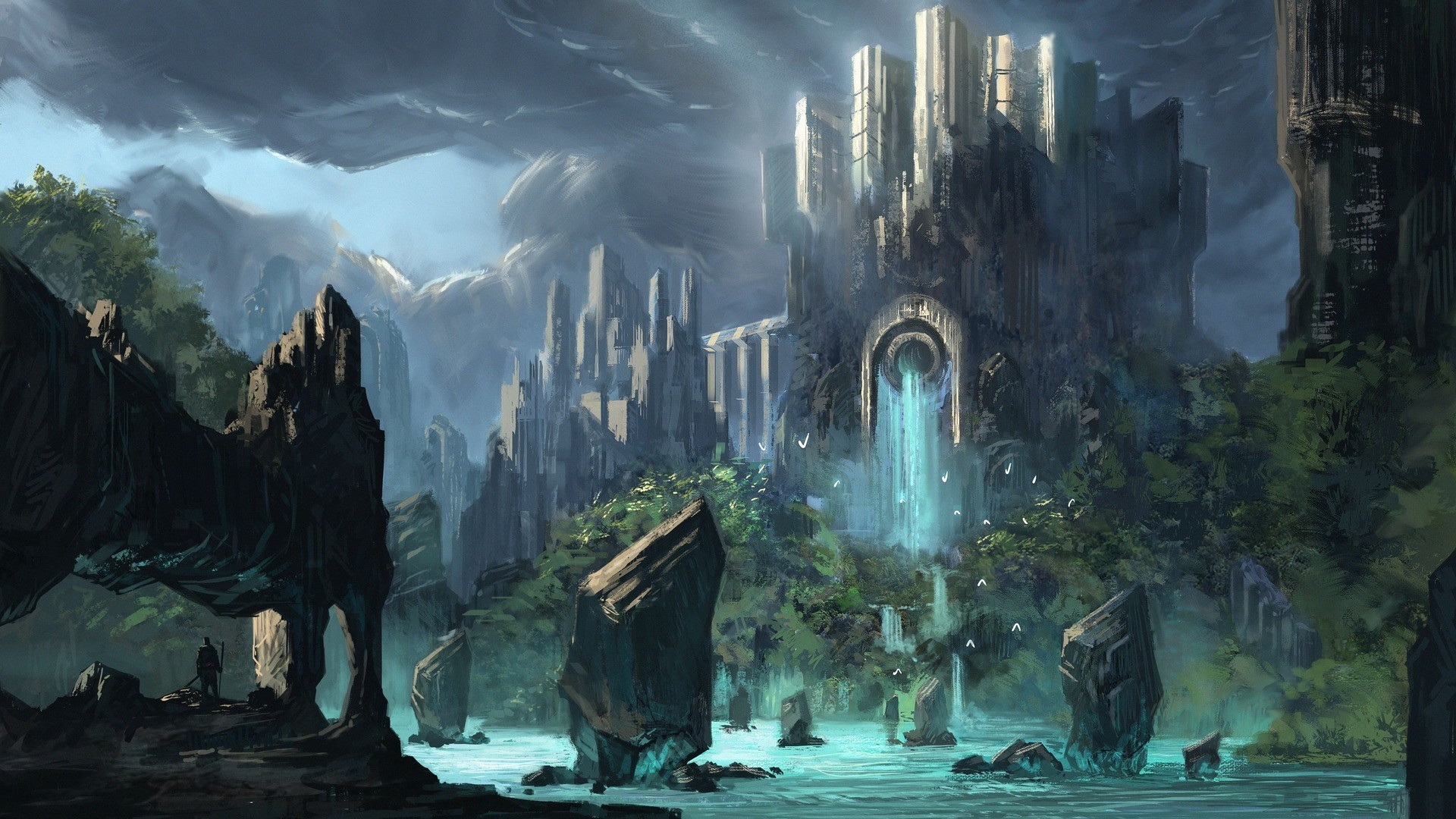 Dark Fantasy Background Wallpaper Hd With High-resolution - Fantasy Background - HD Wallpaper