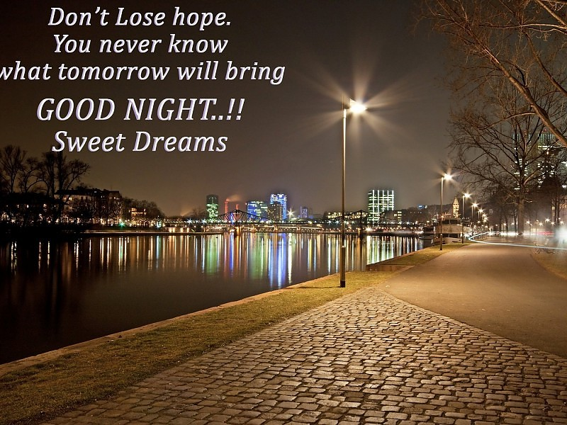 Nice Quote On Dont Lose Hop Good Night Thoughts Hd - Good Night With Beautiful Thought - HD Wallpaper
