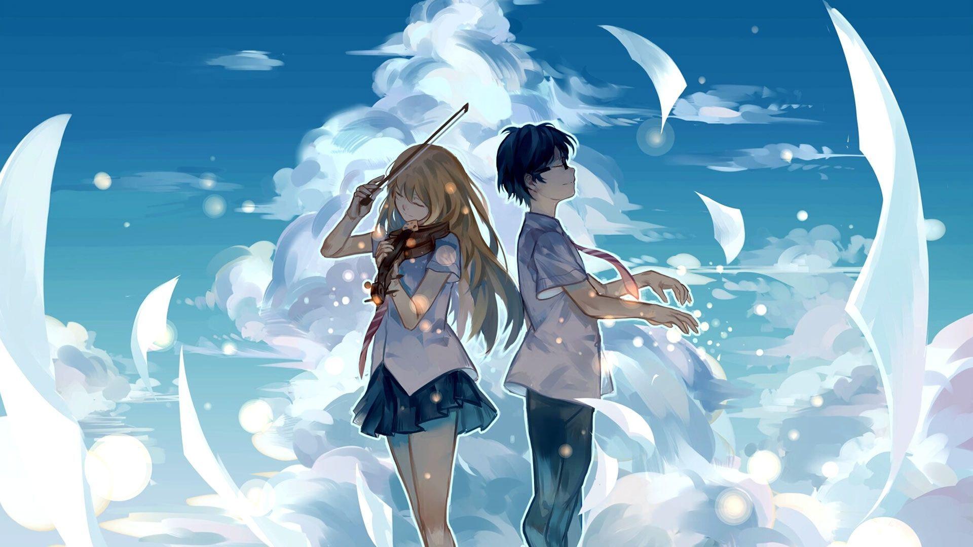 Best Desktop Background Hd Anime - Anime Couple Wallpaper Hd - HD Wallpaper
