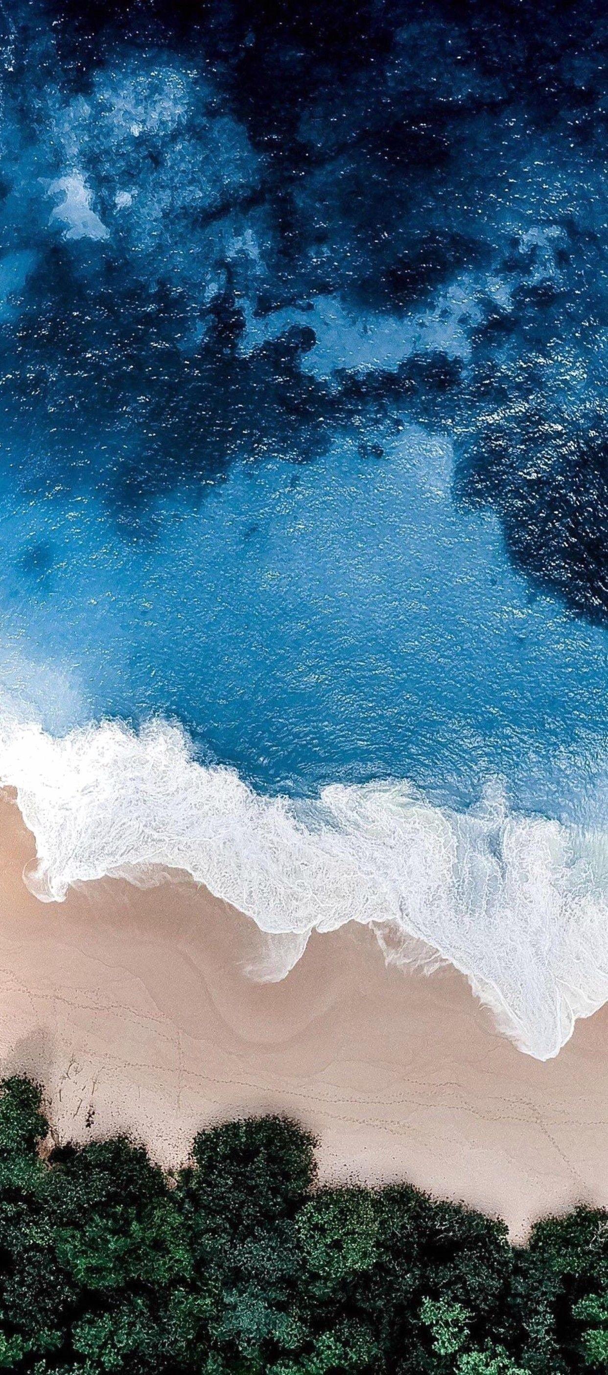 Iphone X 4k Wallpaper Nature Beach Ocean Blue - Ocean Wallpaper Iphone - HD Wallpaper