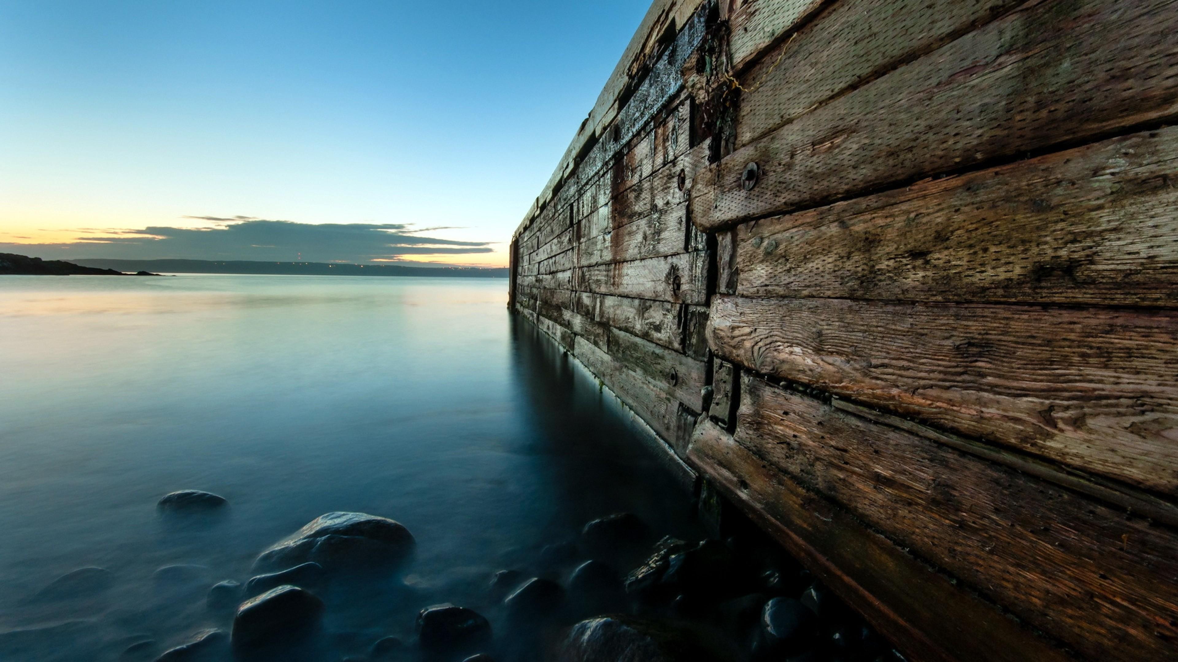 Download Wallpaper Night, Lake, Bridge, Landscape 4k - 4k Hd Wallpapers Landscape - HD Wallpaper