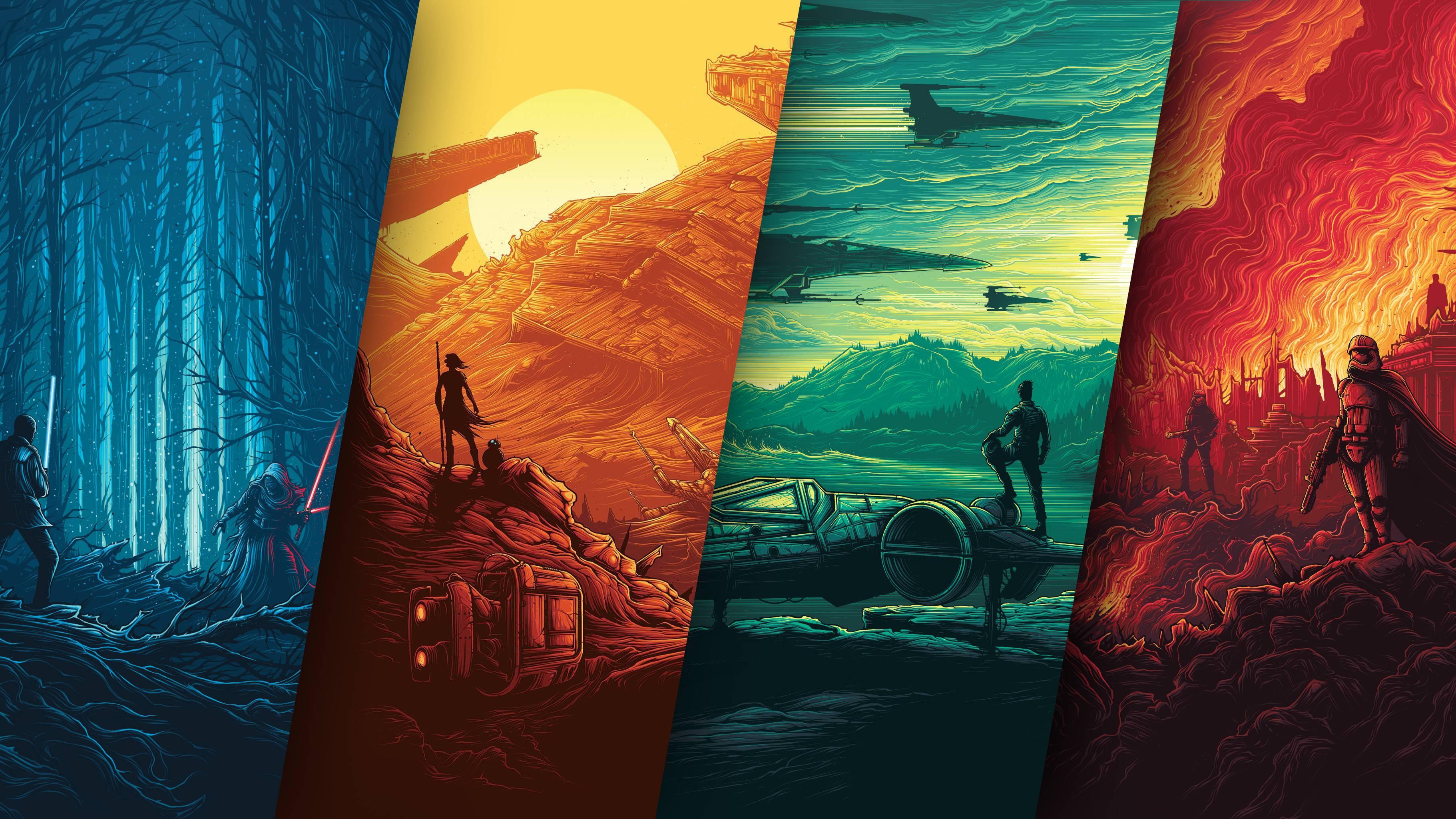 Star Wars Poster 4k Movies Hd 4k Wallpaper Star Wars Poster 4k 3643x2048 Wallpaper Teahub Io