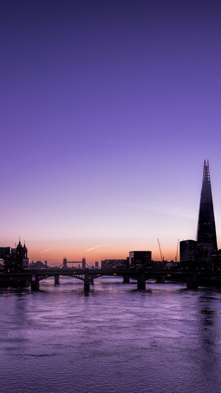 Sunset Over The Thames Full Size Wallpaper Hd Download 750x1334 Wallpaper Teahub Io