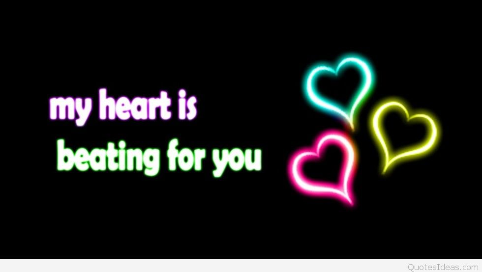 Love Heart Quote On Wallpaper Hd - Love Quotes Pic Hd - HD Wallpaper
