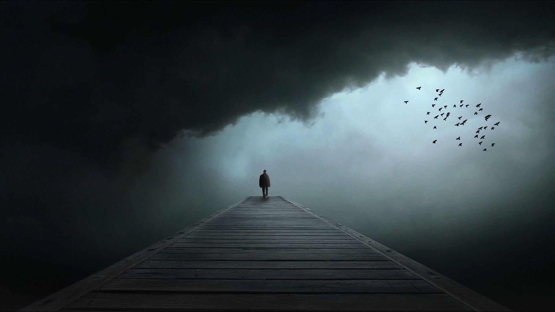 Alone man sad Alone sad