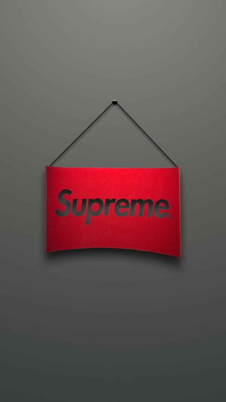 Supreme Logo Red Minimalism - Supreme Hd Wallpaper Iphone 6 - HD Wallpaper
