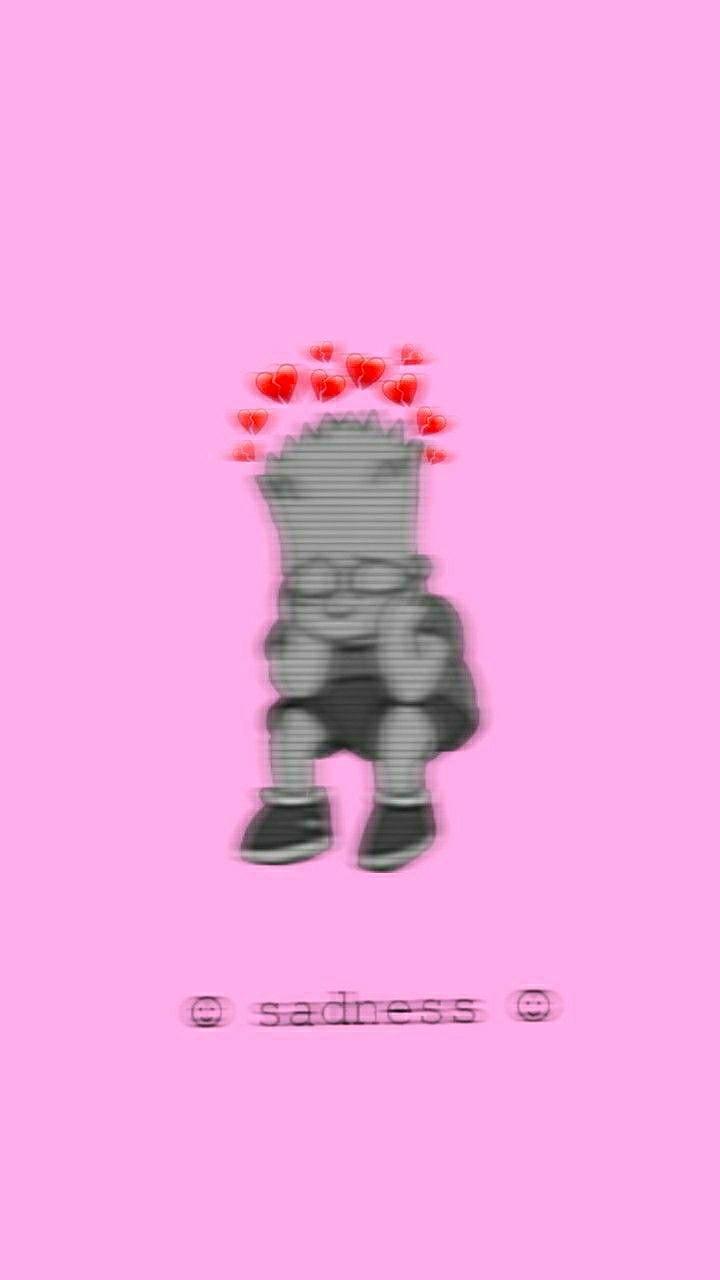 Sad, Wallpaper, And Sadness Image - Simpsons Wallpaper Sad - HD Wallpaper