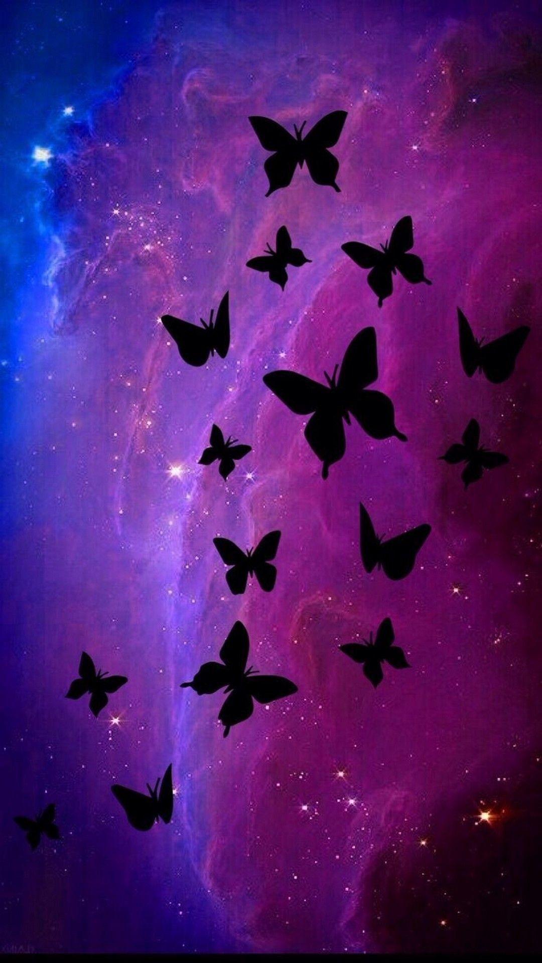1080x1920 Black Butterfly Purple Iphone 7 Wallpaper Iphone Butterfly Wallpaper Hd 1080x1920 Wallpaper Teahub Io