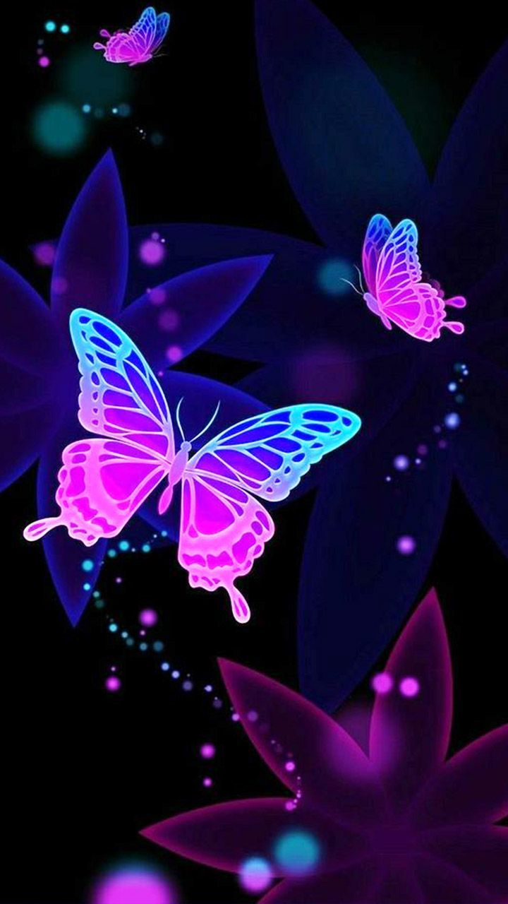 Floating Purple Butterfly Wallpaper - Pink And Purple ...