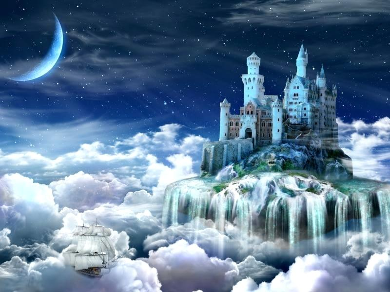 Fairytale Wallpaper Fairy Tale Amazing Wallpapers Tail - Beautiful Magical Fantasy Castle - HD Wallpaper
