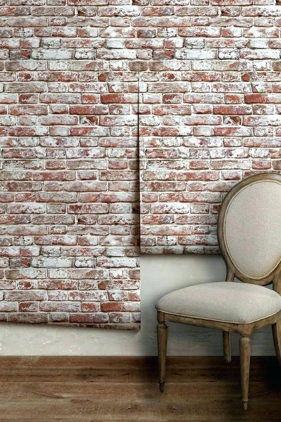 Peel And Stick Brick Wallpaper Whitewashed Antique - Brick Wall Paper Ideas - HD Wallpaper