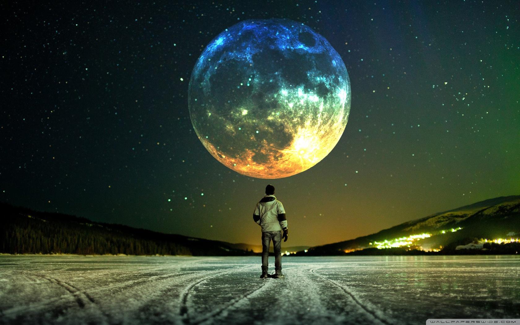 Best Wallpapers Moon 1680x1050 Wallpaper Teahub Io
