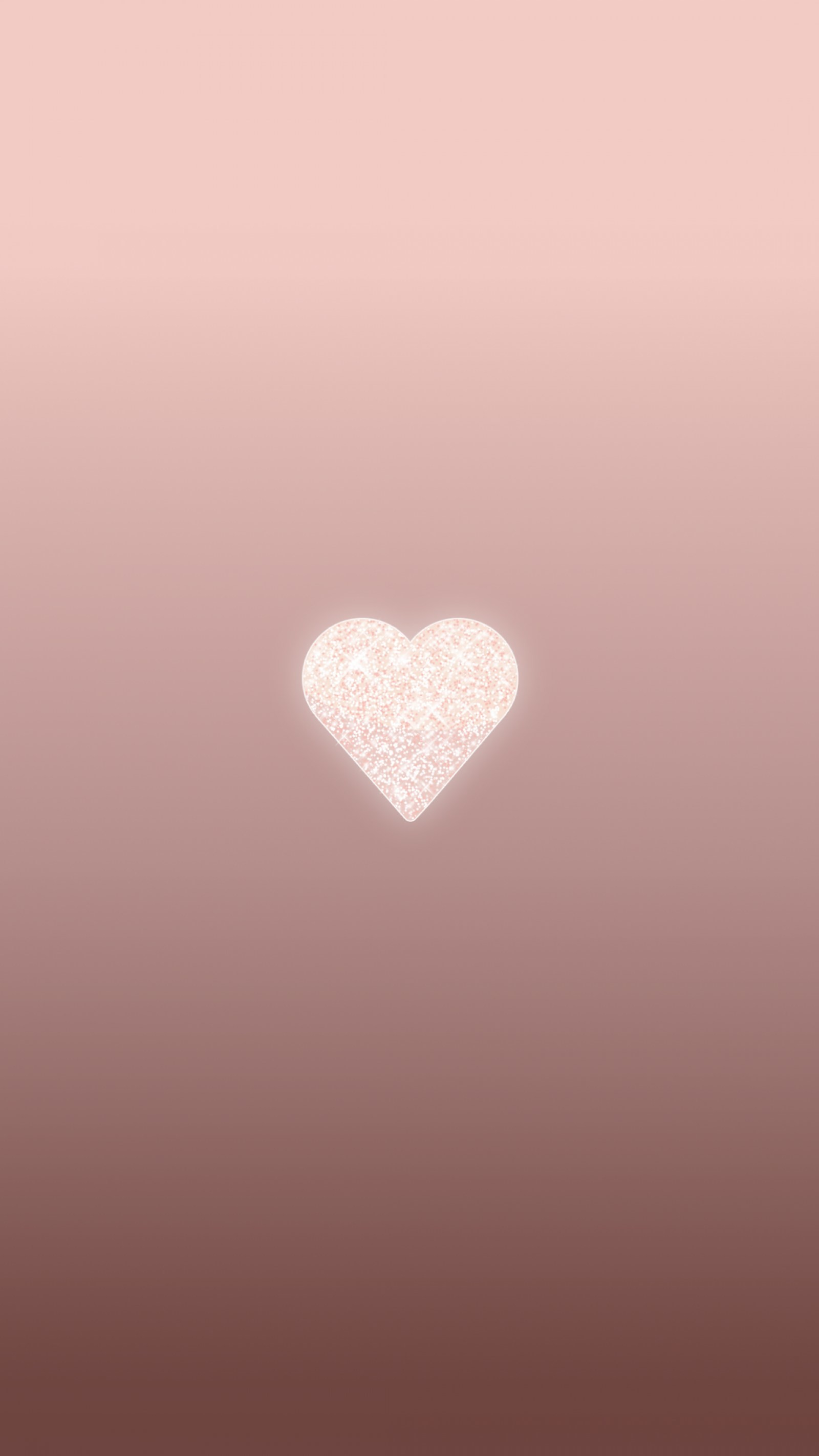 Rose Gold Heart, Phone Wallpaper, Background, Lock - Lock Screen Rose Gold - HD Wallpaper