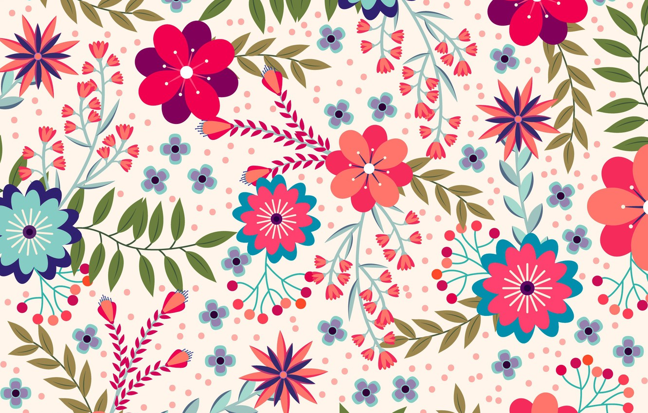 Wallpaper Flowers Background Texture Nature Design - Floral Cute Background Hd - HD Wallpaper