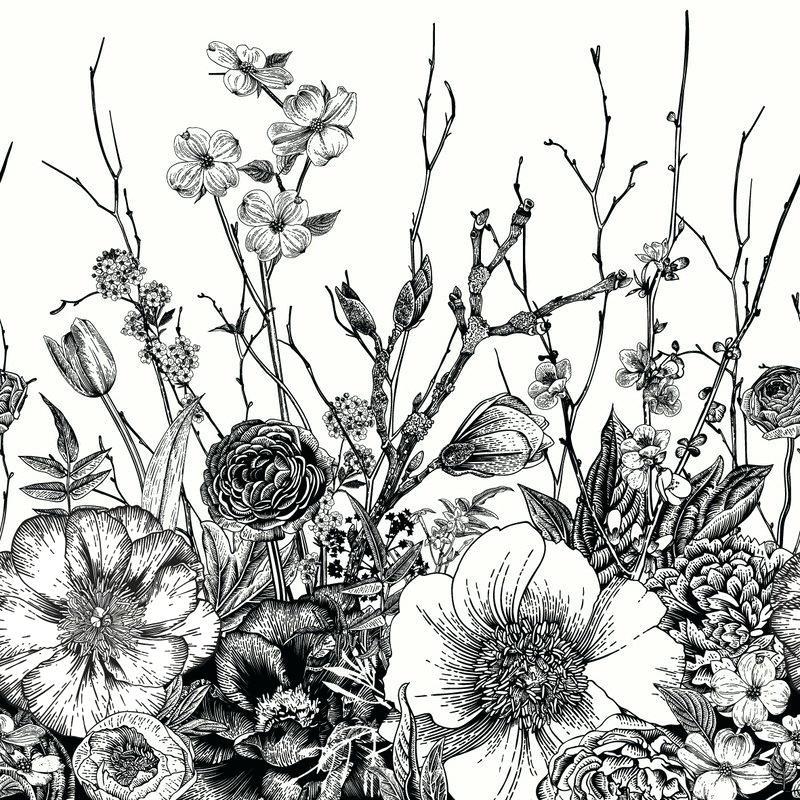 Vintage Floral - HD Wallpaper