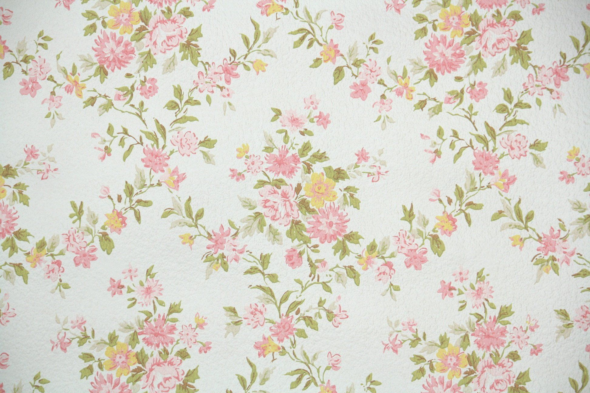 1960s Floral Vintage Wallpaper Hannah S Treasures Vintage - Floral Vintage - HD Wallpaper