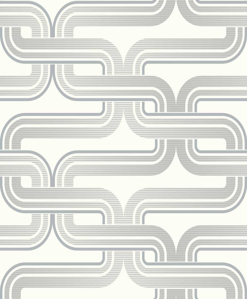 White Wallpaper With Design Link By Silver White Wallpaper - Retro Geometric Lines Pattern - HD Wallpaper