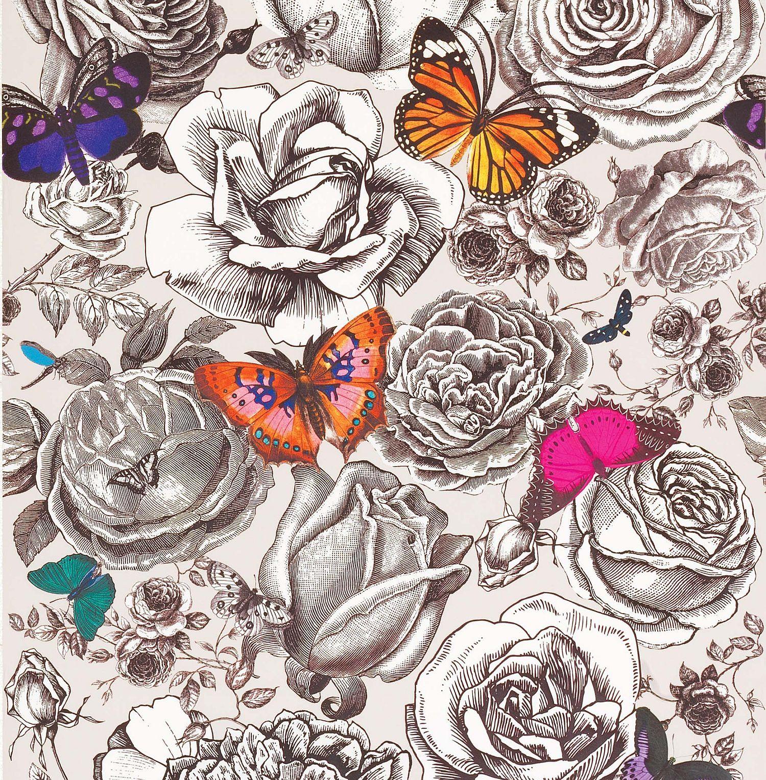 Butterfly Garden By Osborne & Little - Osborne And Little Enchanted Garden - HD Wallpaper