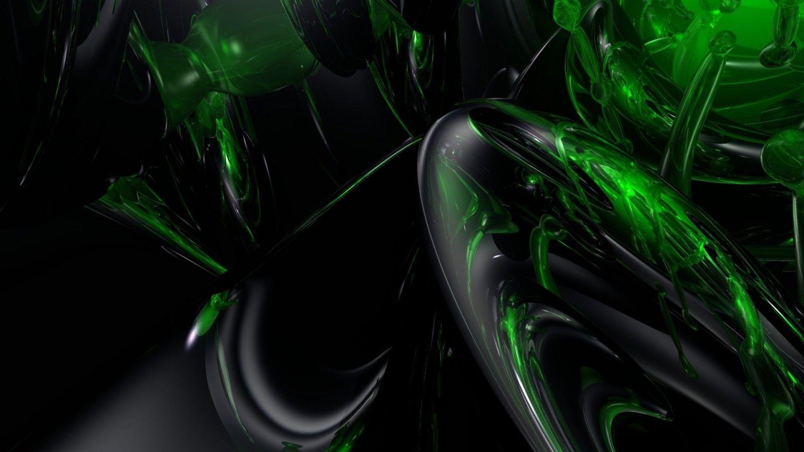 Wallpaper Black Green - Dark Wallpaper Windows Green 10 Hd - HD Wallpaper