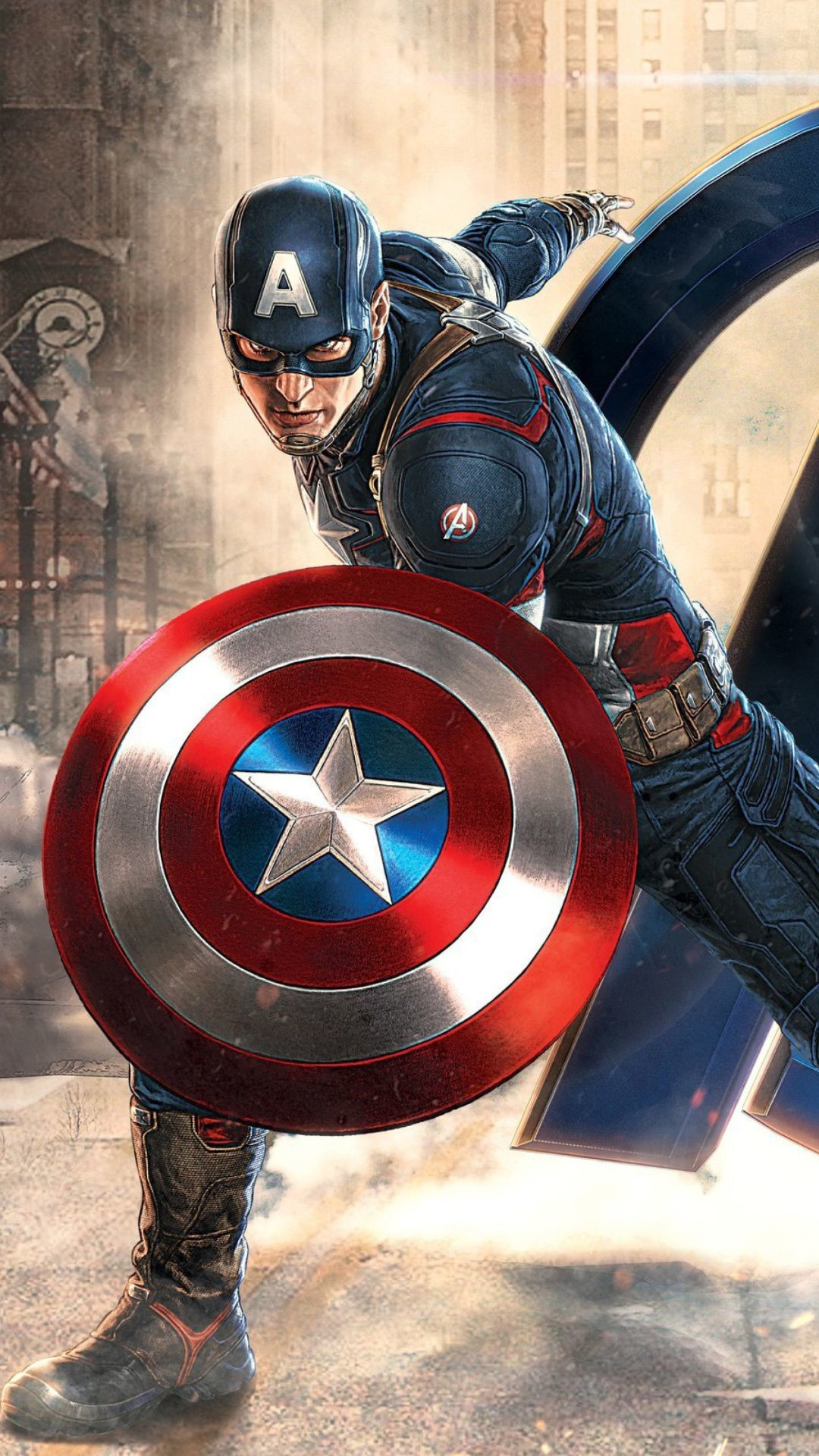 1080x1920, Captain America Wallpapers For Iphone 7, - Captain America Wallpaper Hd Avengers - HD Wallpaper