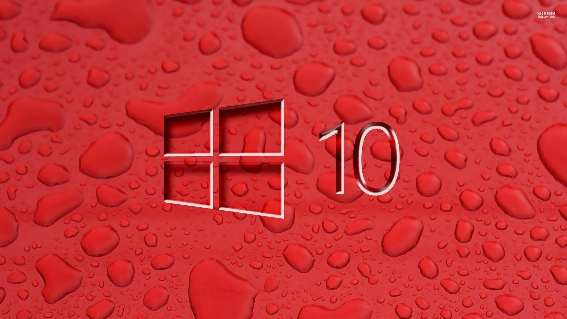 Red Window 10 Wallpaper For Pc - HD Wallpaper