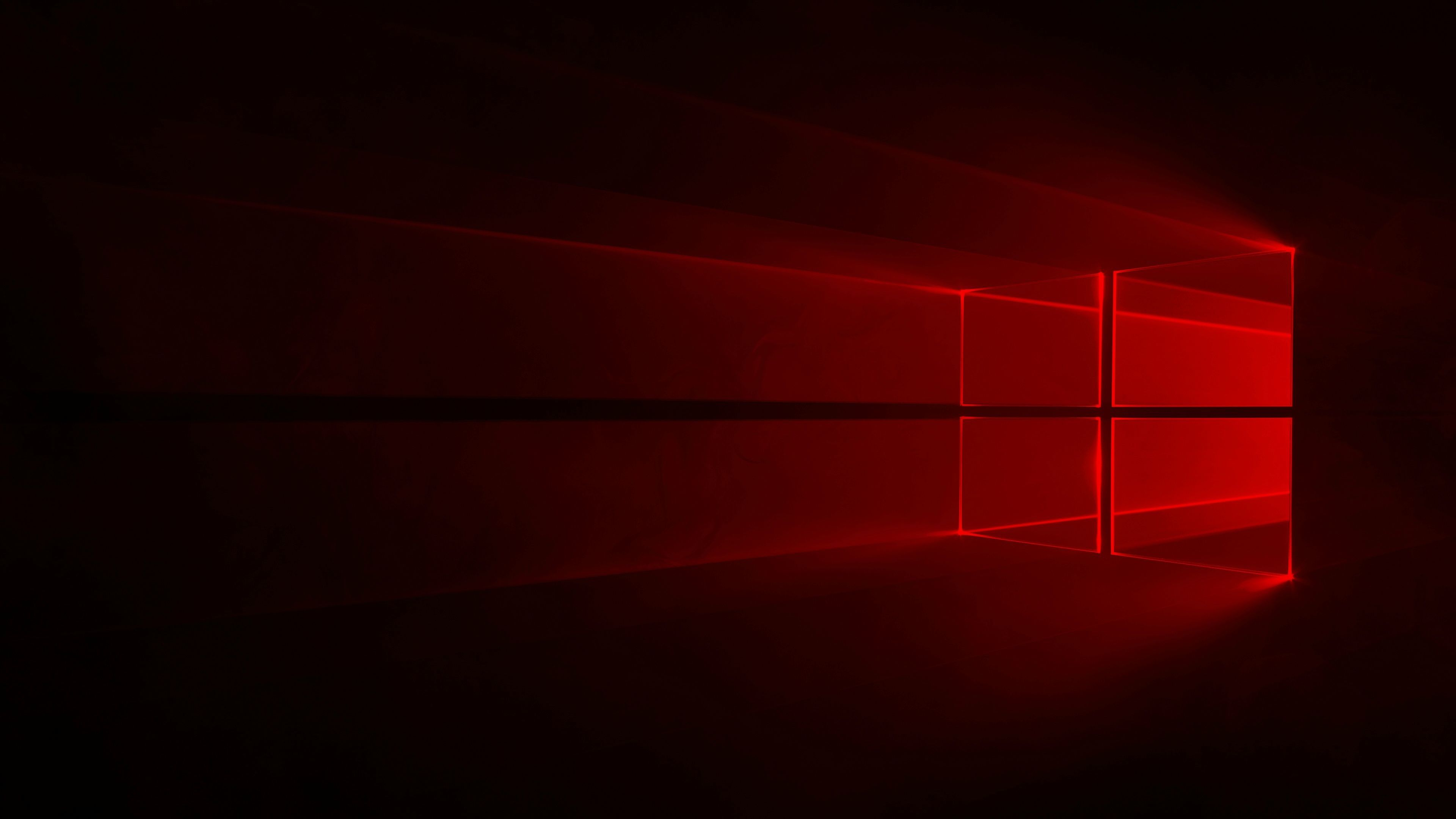 Windows 10 Red Wallpaper 4k - HD Wallpaper