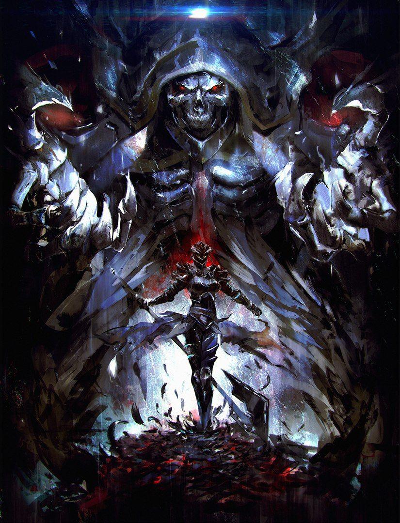 Badass Wallpapers Overlord Light Novel Art 825x1080 Wallpaper Teahub Io