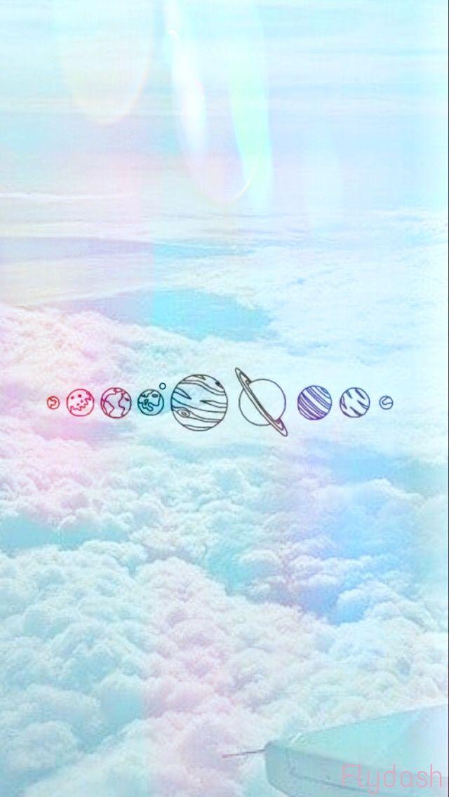 10 102474 aesthetic wallpaper blue babyblue sky solarsystem aesthetic wallpaper