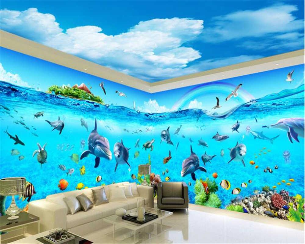 Beibehang Advanced Decorative Wallpaper Aesthetic Blue - Aesthetic Wallpaper Cool Ocean - HD Wallpaper