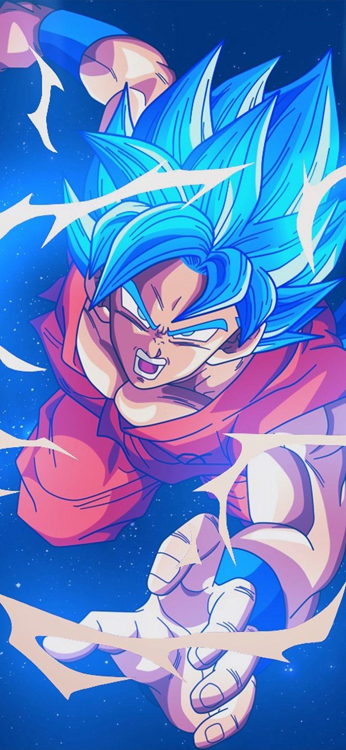Bc54 Dragonball Goku Blue Art Illustration Anime Via - Dragon Ball Z Wallpaper Iphone X - HD Wallpaper