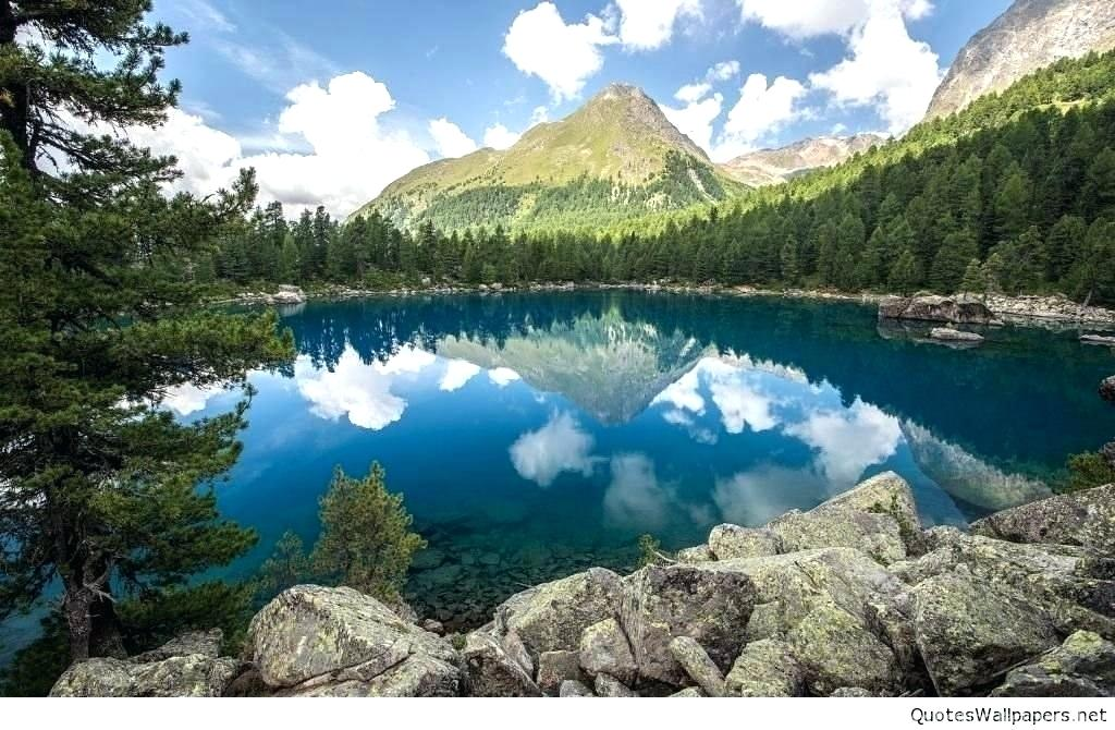 Nature Wallpaper Hd 3d Download For Mobile Love P Phone - Lake With Mountains In The Background - HD Wallpaper
