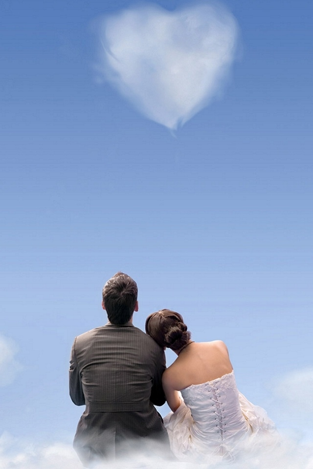 Love Couple Iphone 4s Wallpaper - Romantic Lock Screen Love - HD Wallpaper