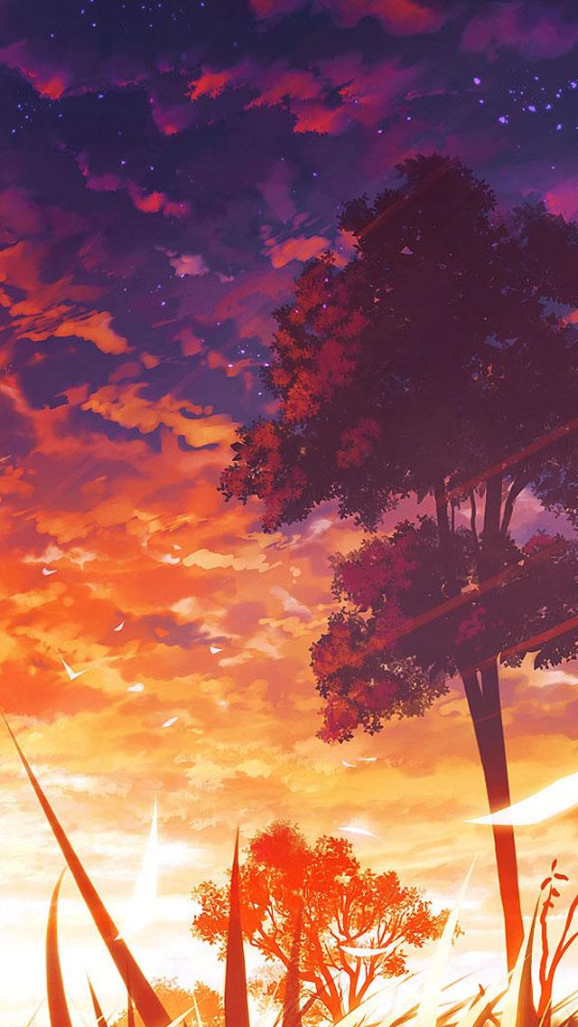 Anime Iphone Wallpapers Anime Scenery Wallpaper Iphone 640x1136 Wallpaper Teahub Io