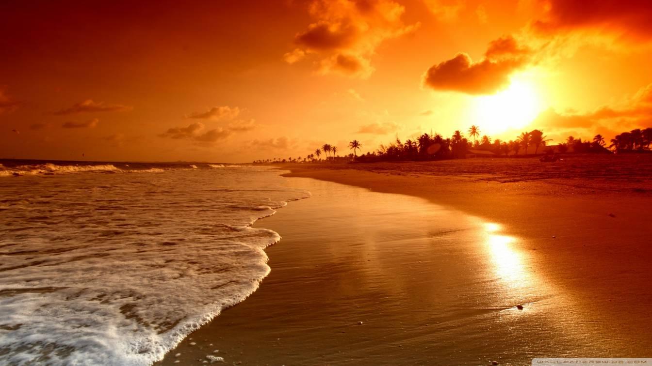 Beach Sunrise 4k Hd Desktop Wallpaper For 4k Ultra - Ultra Hd Sunrise 4k - HD Wallpaper