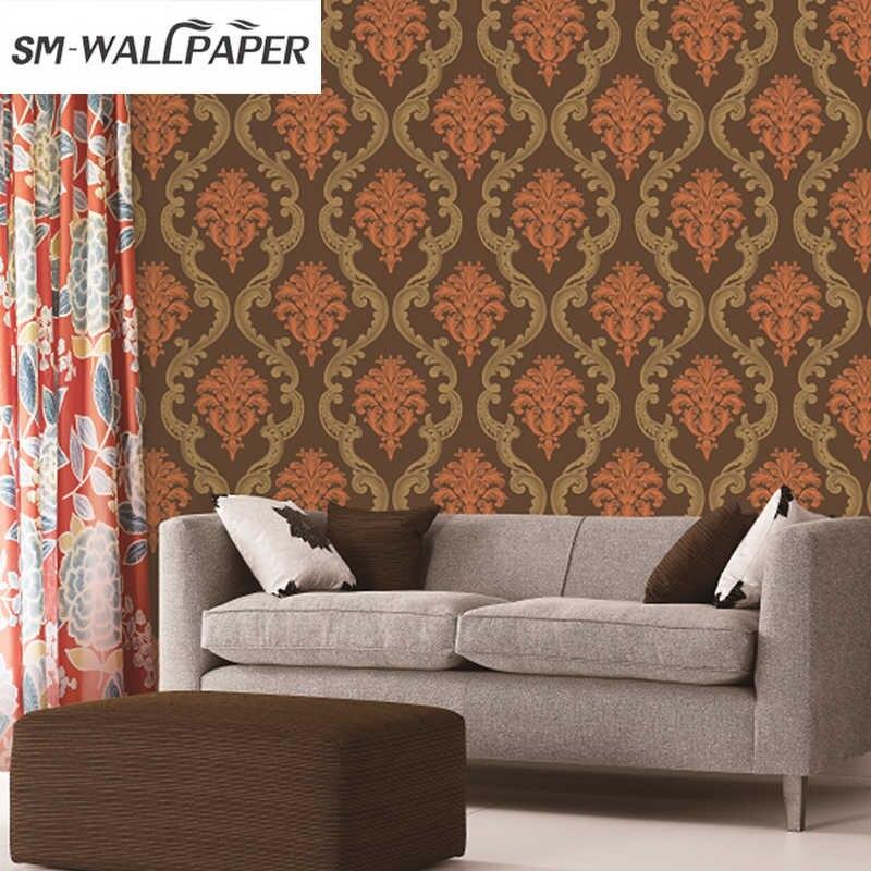 Italian Damask Wallpaper Designs Pvc Vinyl Wallpaper - Living Room Texture Design On Wall - HD Wallpaper