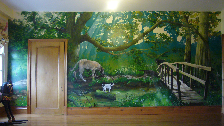 Wallpaper Wall Murals - Painted Murals - HD Wallpaper