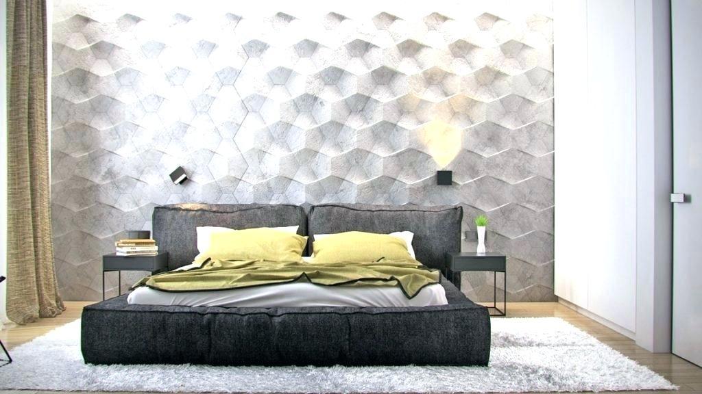 Bedroom Wall Ideas Wallpaper Design Ideas Bedroom Wall - Textured Wall In Bedroom - HD Wallpaper