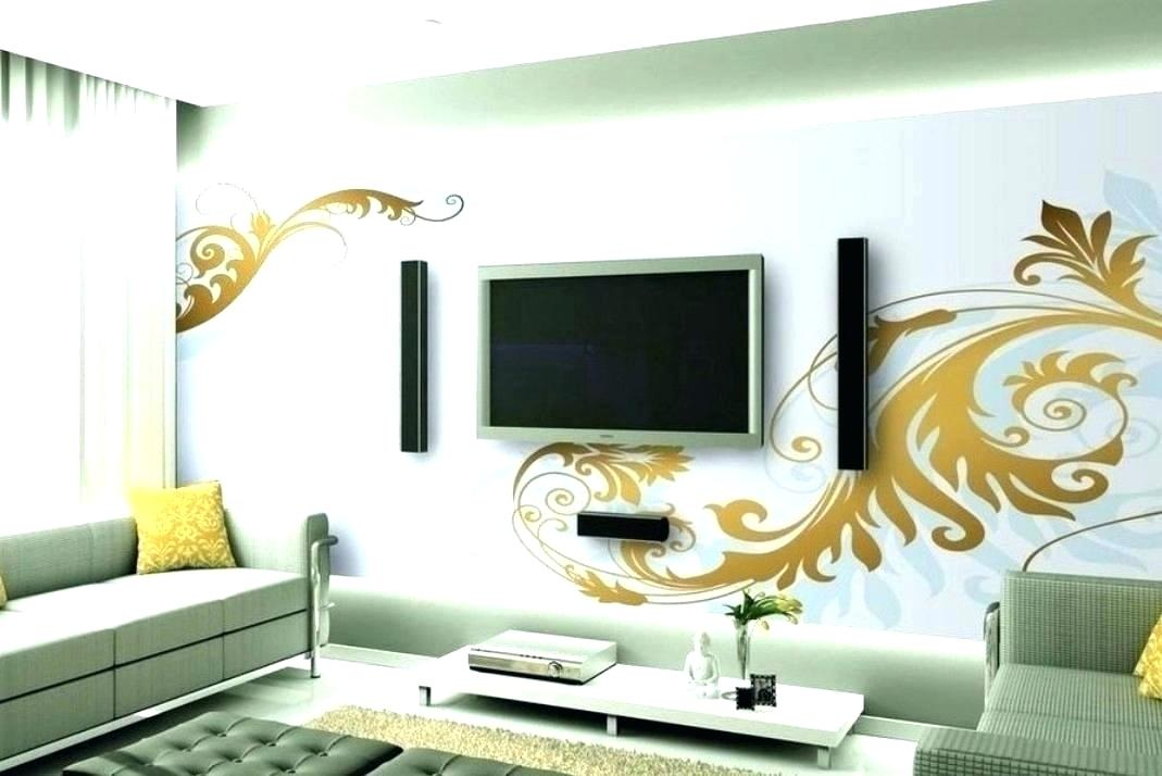 Feature Wall Ideas For Small Living Room Room Wall - Wall Designs Around Tv - HD Wallpaper