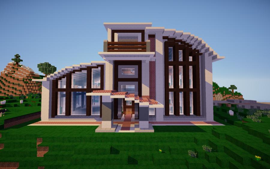 Fabulous Minecraft Modern House Plans Floor Elegant Modern Minecraft House 900x565 Wallpaper Teahub Io