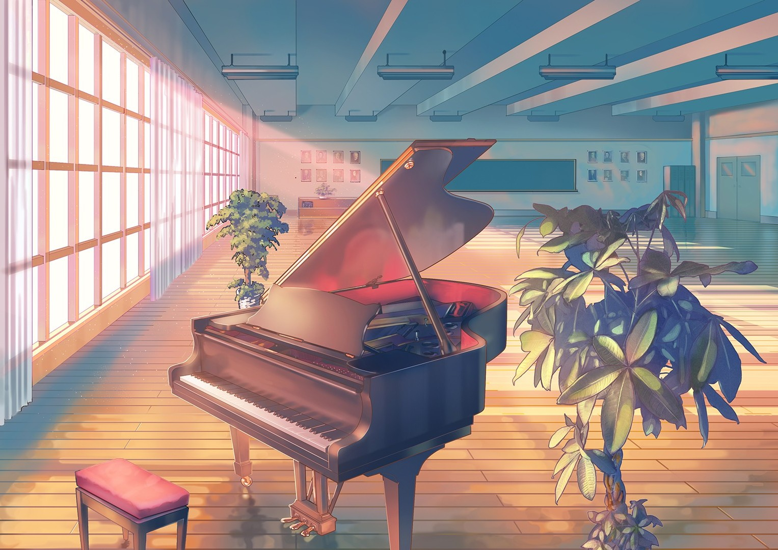 Piano Wallpaper Anime 1527x1080 Wallpaper Teahub Io