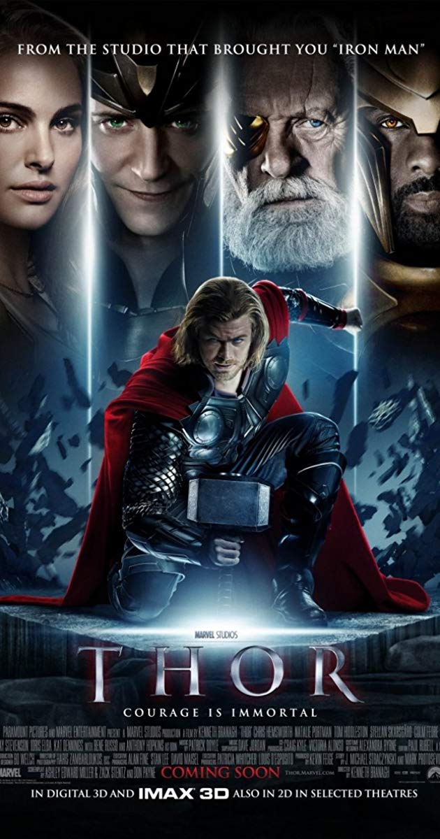 Thor 1 Movie Poster - HD Wallpaper