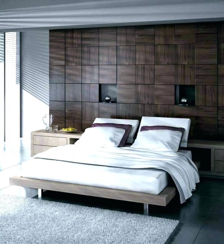 Bedroom Feature Wall Feature Wallpaper Ideas Bedroom - Accent Wall Bedroom Ideas With Wood - HD Wallpaper
