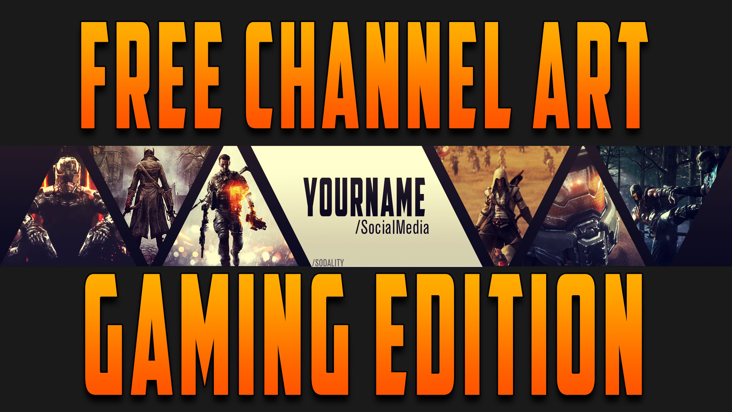 Channel Art For Gaming Channel - HD Wallpaper