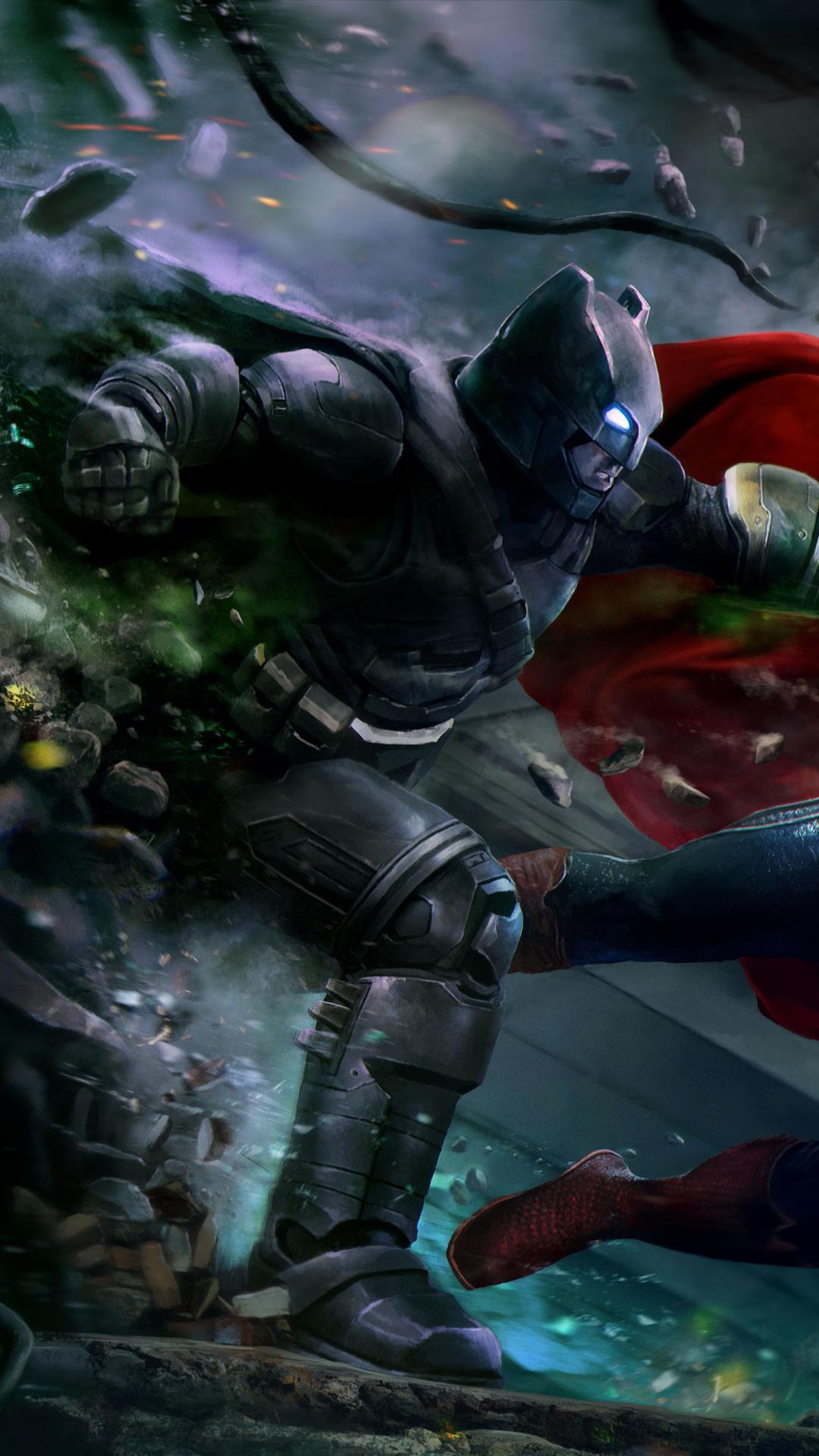 Batman Vs Superman Wallpaper Fight - HD Wallpaper