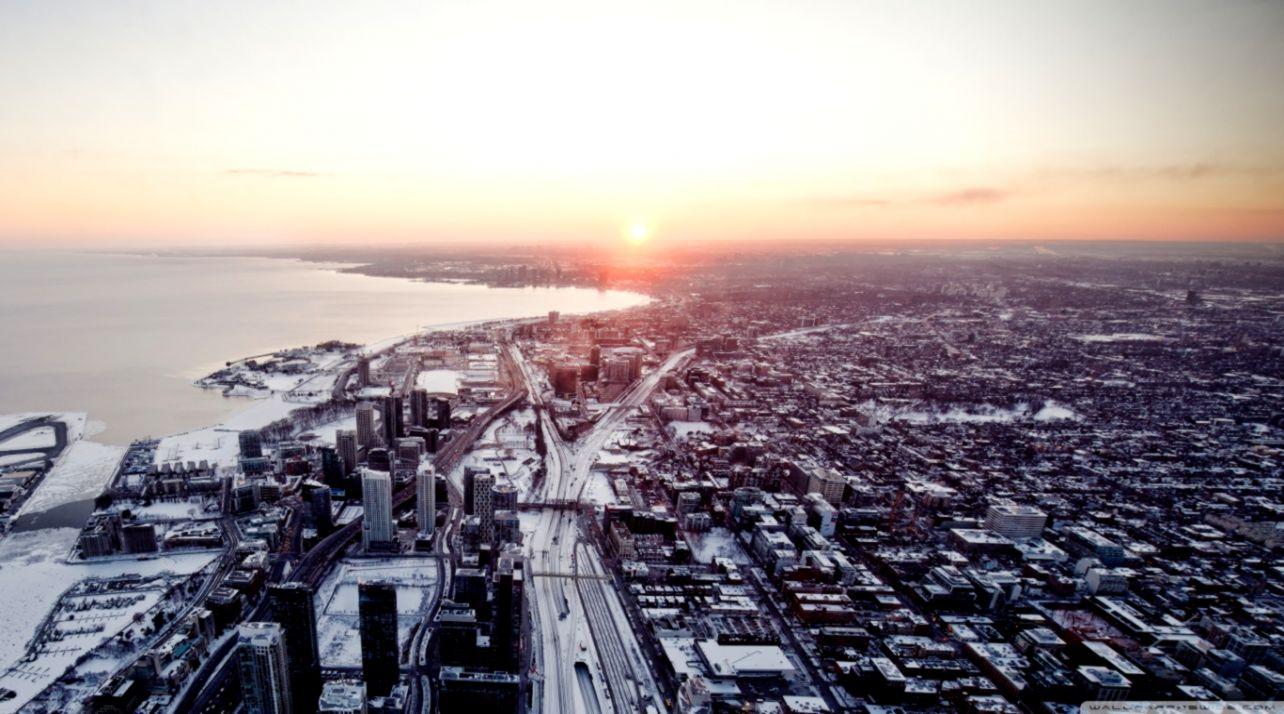 Aerial View Of Toronto City 4k Hd Desktop Wallpaper Bell Fcx001 1284x714 Wallpaper Teahub Io