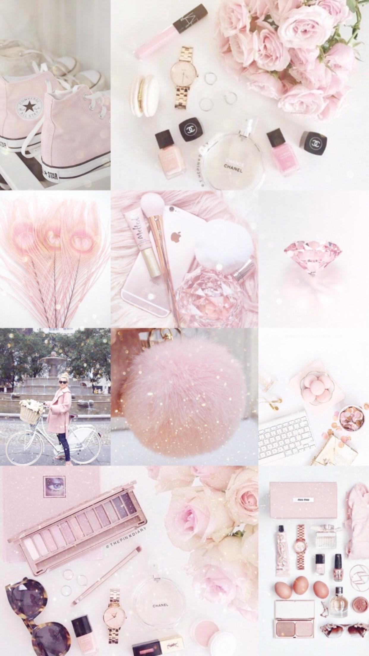 1242x2208, Sweet - Pastel Pink Aesthetic Board - HD Wallpaper